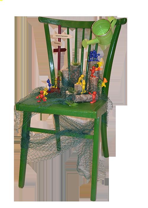 Stuhl-Kunstwerk des Selbsthilfebüro KORN e. V.