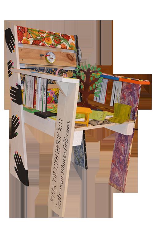 Stuhl-Kunstwerk der SHG Kunst I