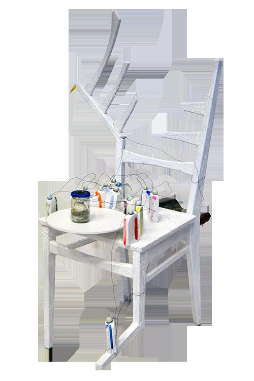 Stuhl-Kunstwerk der SHG Kunst 2